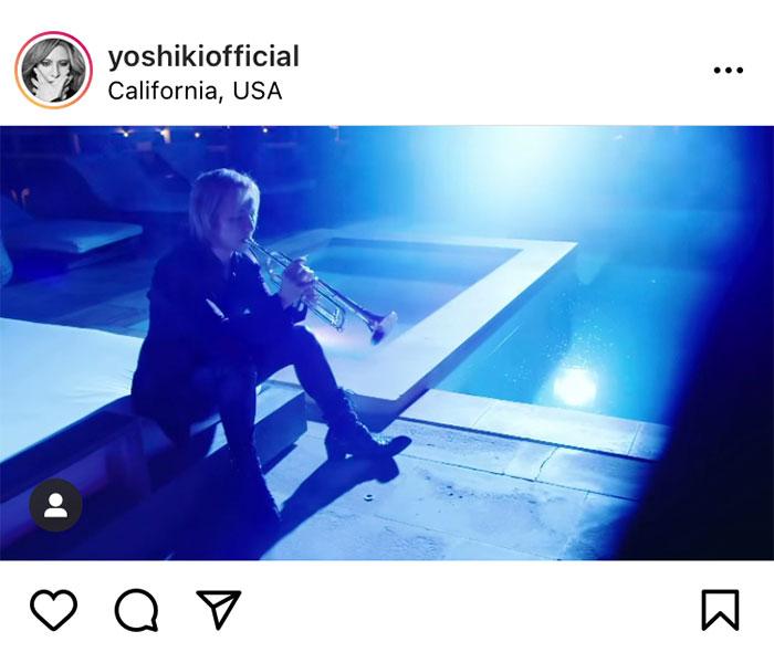 X JAPAN YOSHIKI、『Forever Love』をトランペットで演奏