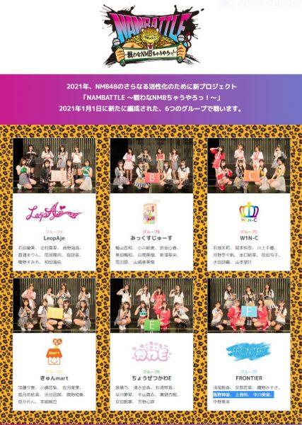 NMB48の新プロジェクト「NAMBATTLE~戦わなNMBちゃうやろっ!~」特設サイトオープン