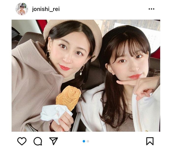 NMB48 上西怜、姉・上西恵との新年双子コーデを紹介!「待ってました」「ほんまに美人さんや」