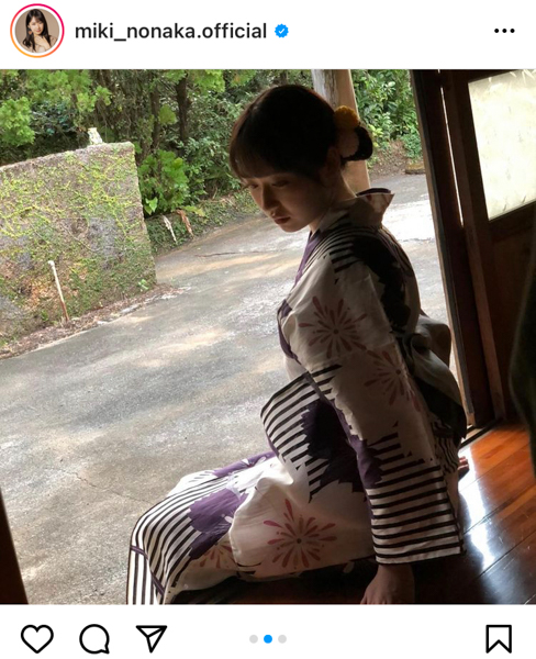 モー娘。野中美希、写真集から浴衣オフショット公開「美しすぎてもう言葉がでません」