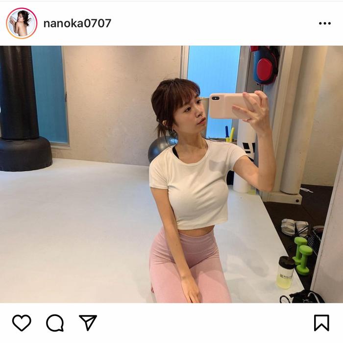 菜乃花、トレーニングウェア姿でIカップのグラマラスボディを披露!「最強美BODY」