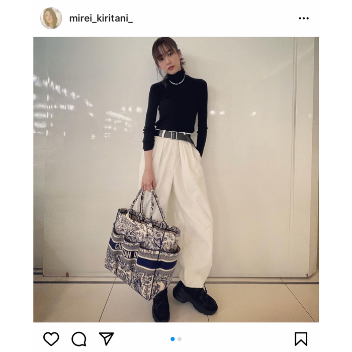 桐谷美玲がスタイリッシュな私服コーデを紹介!「UNIQLOに親近感」