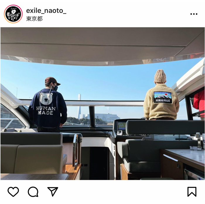 EXILE NAOTOがNIGO(R)とのクルージングショットを公開!「後ろ姿ですら格好いい」