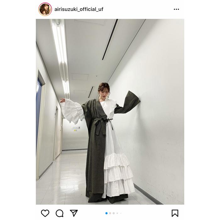 鈴木愛理、LIVE SSD 2021のオフショットを公開!「衣装可愛すぎる」