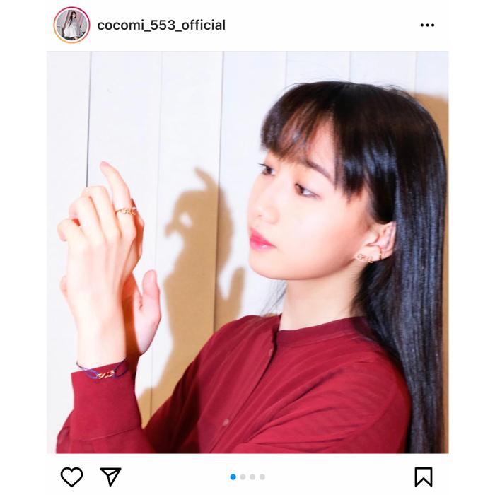 CocomiがDiorのジュエリーで美麗な横顔を披露!「好きな人とお揃いにするのも可愛いなぁ」