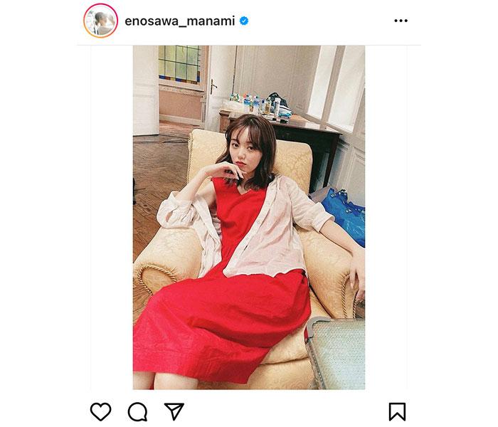 江野沢愛美、女王様感が漂う赤ワンピースショット公開!