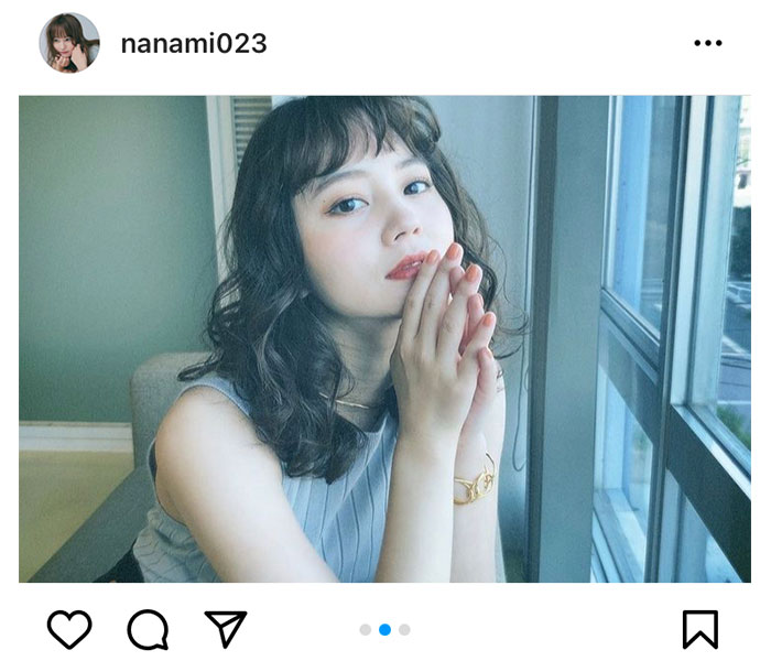 NANAMI、ノースリーブで魅せる美肌に歓喜の声ぞくぞく!