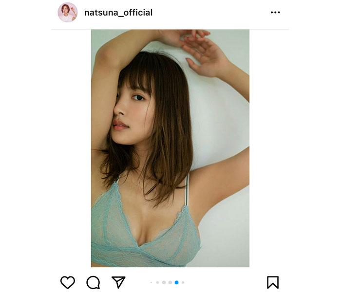 夏菜、結婚後初のグラビアで透け感ランジェリーを披露「本当に人妻か」