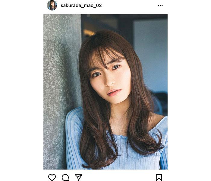 桜田茉央が新宣材写真を公開!インスタフォロワーも1万人に
