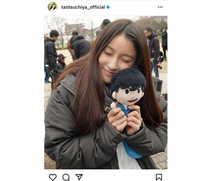土屋太鳳、田中圭を模した人形を抱きしめイメトレ!