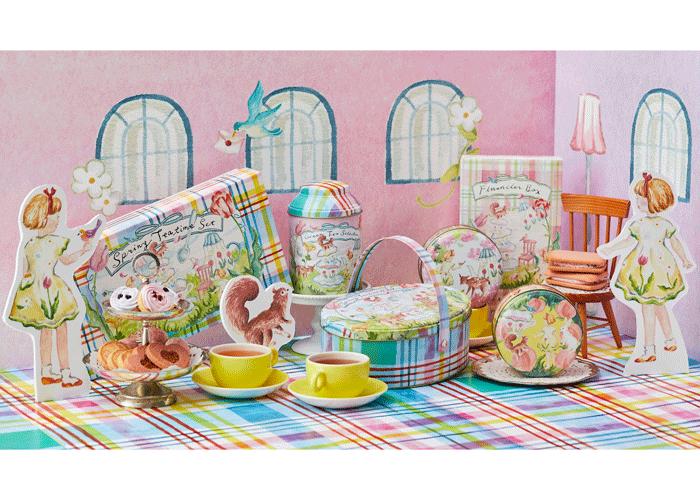 限定デザインのお茶や焼き菓子を2 月25 日(木)から数量限定で発売