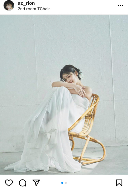 東李苑、純白のウェディングドレスで美麗ポートレート披露「久々にドレス着れて嬉しかったな」