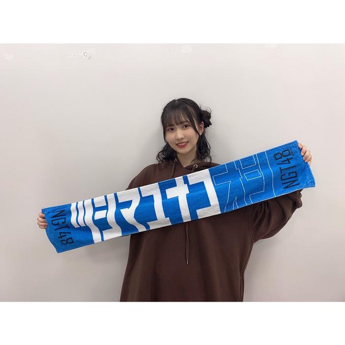 NGT48 對馬 優菜子、メンバーカラーの新グッズを紹介!「即買いさせてもろて」