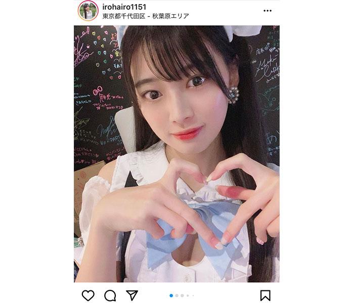 藤田いろは、チラ見え美バストのメイド衣装に釘付け!