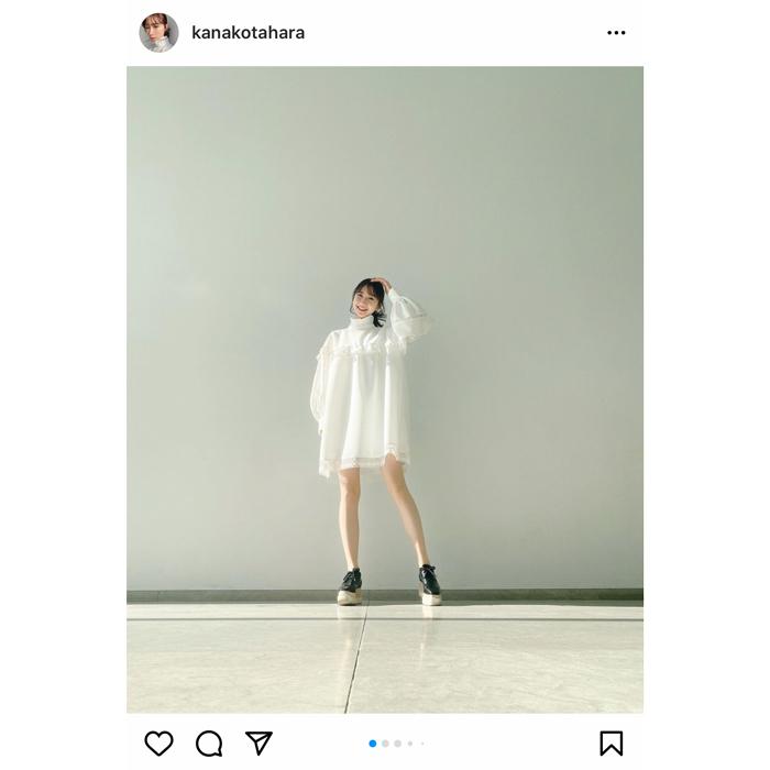 田原可南子、サスティナブルなワンピコーデで降臨!「天使みたいです」
