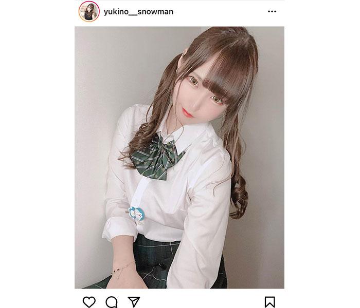 倉澤雪乃、ツインテールの制服姿が可愛すぎる!「屋上でお昼寝しよー!!」