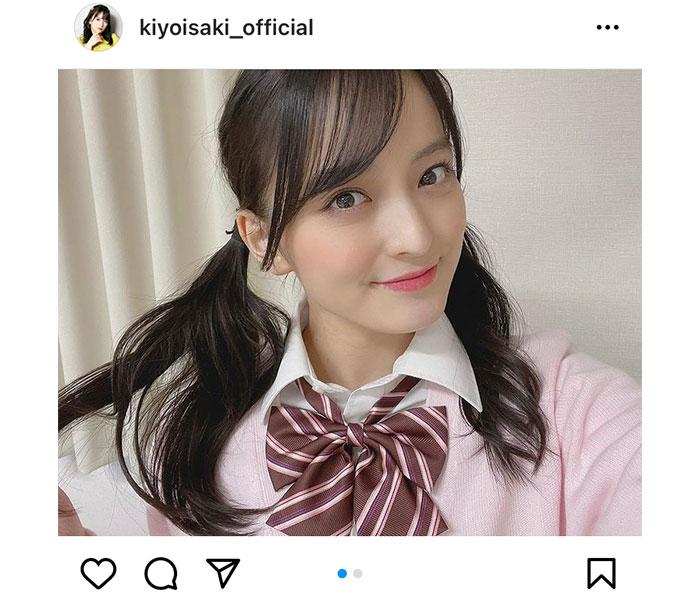 たこやきレインボー 清井咲希、制服×黒髪ツインテールの自撮りショットが可愛すぎる!