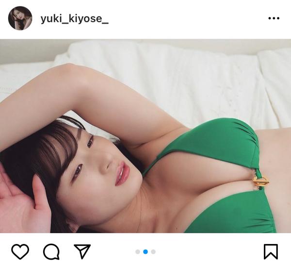 清瀬汐希、迫り来る豊満美バストでおやすみ投稿「眠れなくなりました」