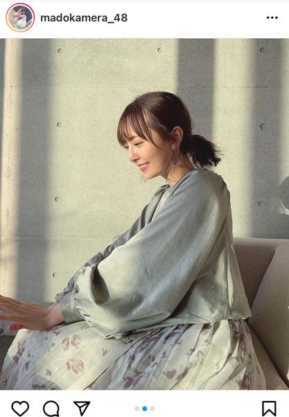 HKT48 森保まどか、後ろ髪束ねた癒しの微笑みショット公開「雰囲気が似合いすぎます」