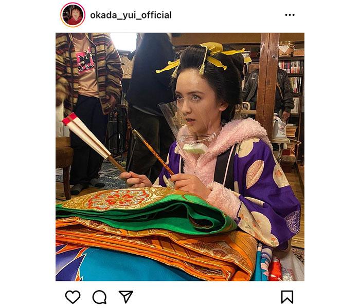 岡田結実、フェイスガード姿で「江戸モアゼル」を告知「なれ過ぎて違和感を感じない」