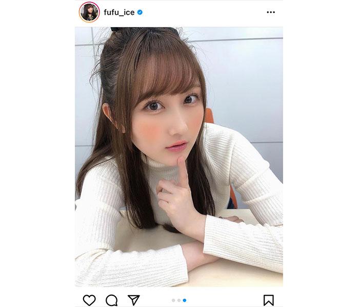矢倉楓子、タートルネックの白コーデが可愛いと反響!