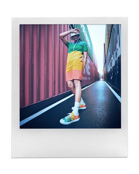 LACOSTE × POLAROID:カラフルなコレクション