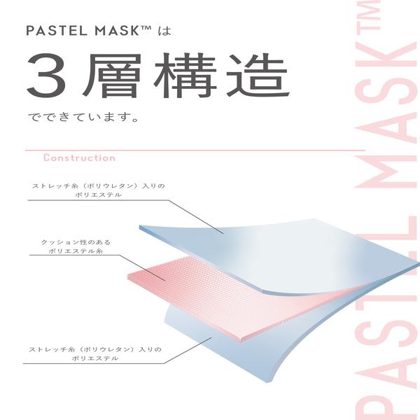 おしゃれなプリントシール付きで数量限定新発売! 洗える3Dカラーマスク 「PASTEL MASK(パステルマスク)みちょぱセレクトカラー」