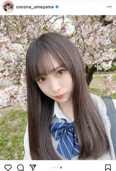 NMB48 梅山恋和、等身大の制服ポートレートを披露「一緒に青春しよ〜?」