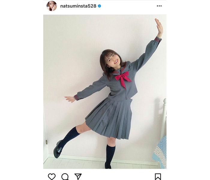 平嶋夏海、現役感あるセーラー服ショットに反響!「まだまだ現役」「似合う」