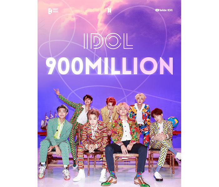 BTS、 『IDOL』ミュージックビデオが9億回再生突破