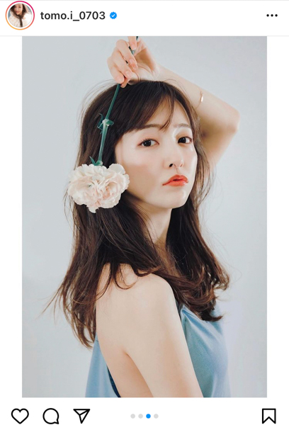 板野友美、艶やか素肌で魅せるポートレート公開「女神ですほんと」