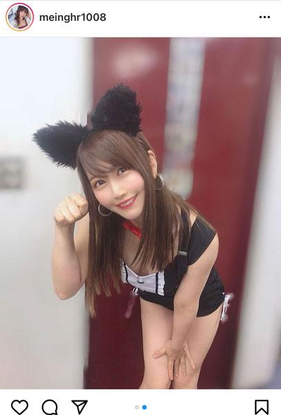 レースクイーン・永原芽衣、えちえちな黒猫コスプレショット公開!