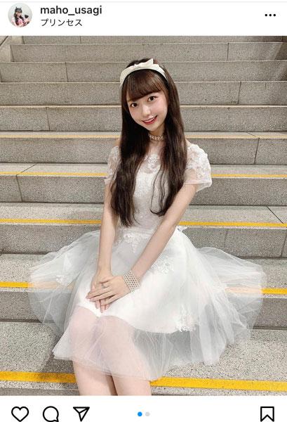AKB48 大盛真歩、プリンセスな透け感ドレス姿に歓喜の声!