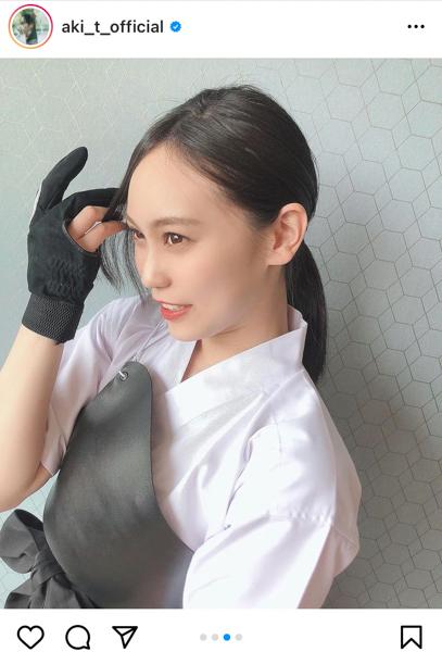 HKT48 豊永阿紀、弓道着姿で凛とした立ち振る舞い「女子校で圧倒的にモテるタイプの先輩」