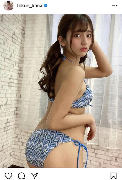 徳江かな、ゆるふわツインテールのビキニショットが可愛すぎる!