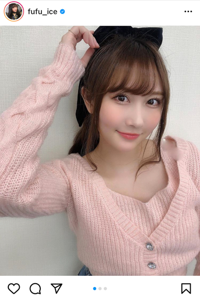 矢倉楓子、ピンクカーディガンとポニーテールの組み合わせが可愛すぎる!「ずっと楓子が1番だよー」