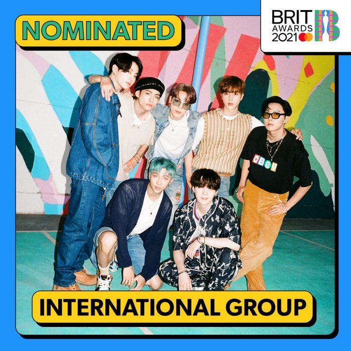BTS、英国最高権威「ブリット・アワード(The BRIT Awards)」のインターナショナルグループ部門にノミネート