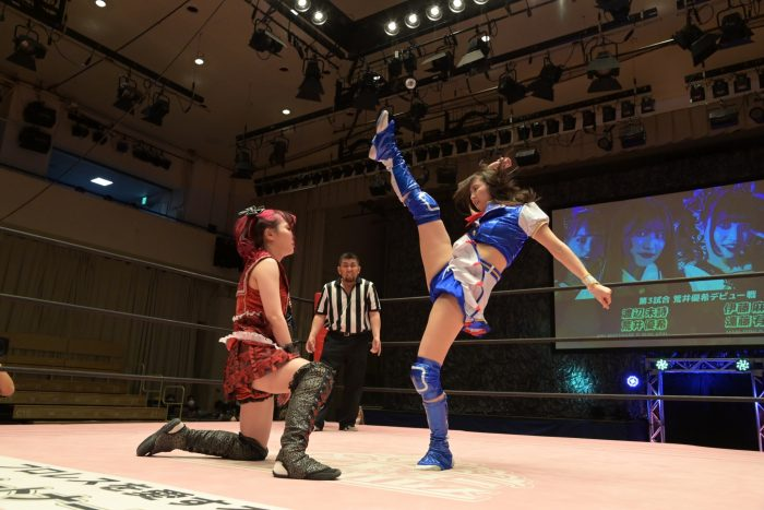SKE48 荒井優希、プロレスデビュー戦は伊藤麻希に敗退「経験の差だったり、力の差を感じました」
