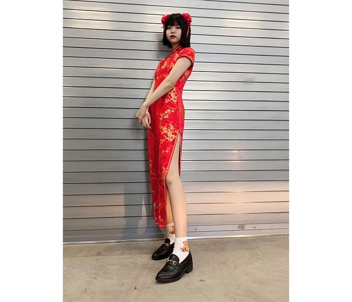 SKE48 荒野姫楓、チャイナドレスで魅せる美脚に反響ぞくぞく!