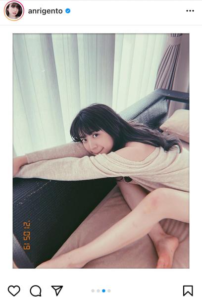 源藤アンリ、美肌&美脚披露のポートレートにうっとり