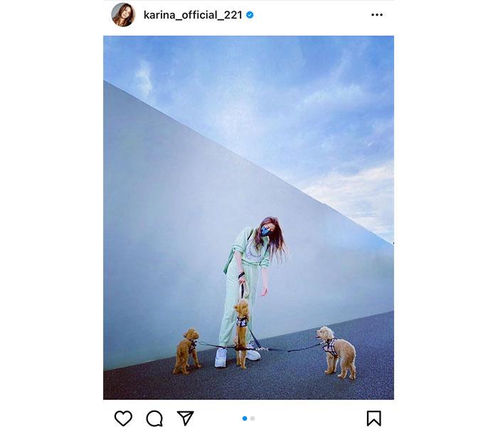 香里奈、愛犬と散歩するプライベートショットを公開