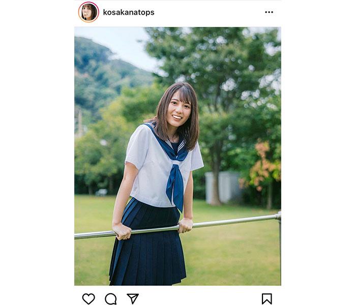 日向坂46 小坂菜緒、笑顔に見惚れるセーラー服アザーカットが公開!「本当にお美しいです」