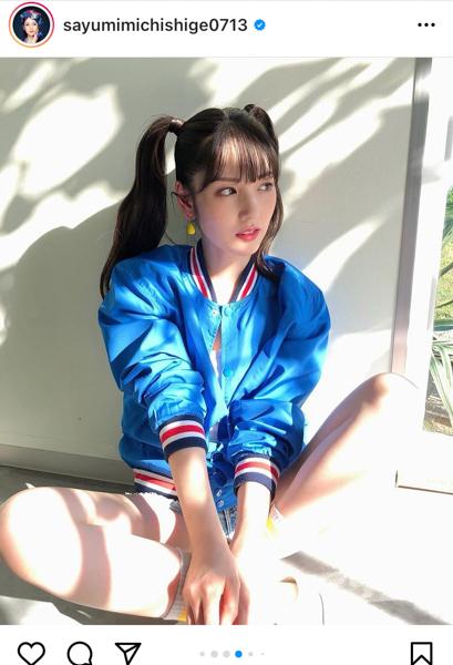 道重さゆみ、「今月も好き?」高めツインテールのスポーティ衣装公開!