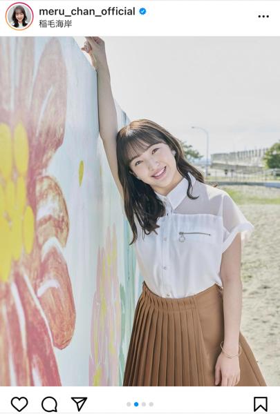 HKT48 田島芽瑠、オルフェスCMオフショットで見せるウィンクにドキっ!