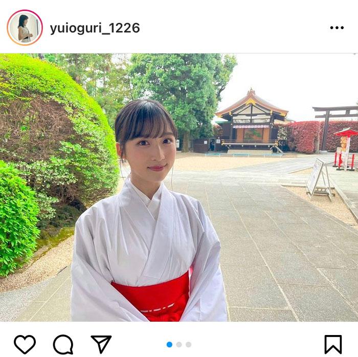 AKB48 小栗有以、久しぶりの巫女姿に反響ぞくぞく!