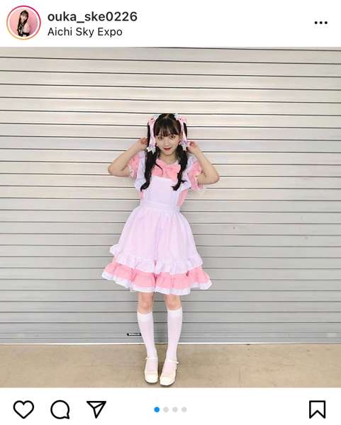 SKE48 末永桜花、カワイイがすぎるメイド衣装に推し変禁止!?「魂を根こそぎ持ってかれました」
