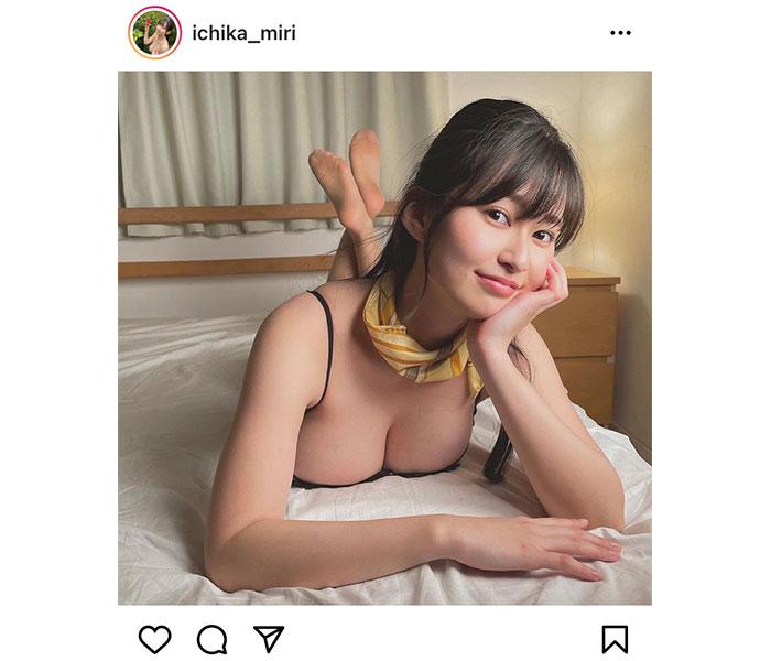 未梨一花、最新イメージ作品からオフショット公開