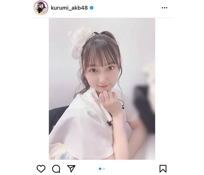 AKB48 鈴木くるみ、目線逸らしのアイドルショットが可愛すぎる!
