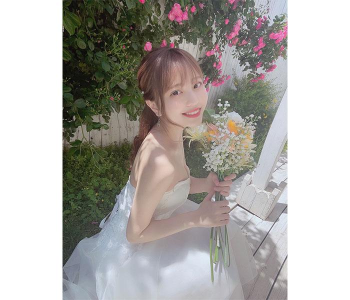 竹内星菜、「幸せにしてね!」純白ドレス姿に歓喜の声ぞくぞく!