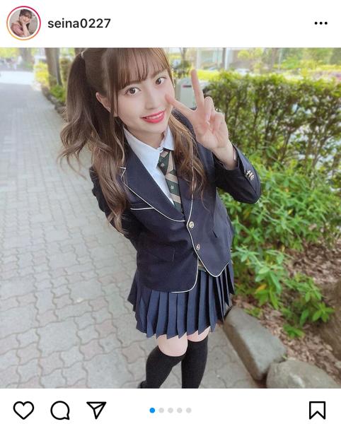 竹内星菜、ハーフツインの最強制服コーデに反響ぞくぞく!「世界一制服が似合う」